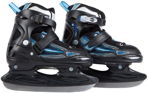 Ultrasport Schlittschuh Kids-Skater Patines de Hielo, Unisex bebé, Negro/Azul Claro, 28-31