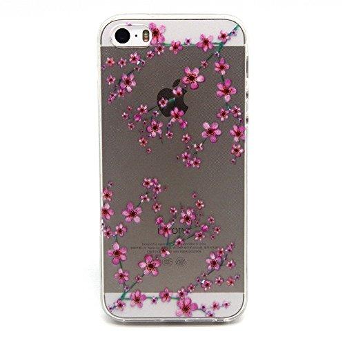 TPU Silikon Schutzhülle Handyhülle Painted pc case cover hülle Handy-Fall-Haut Shell Abdeckungen für Smartphone Apple iPhone 5 5S SE +Staubstecker (Q3) 12