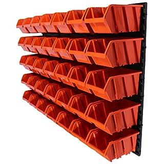 41 tlg.Wandregal Regal + Stapelboxen Gr. 4 Box Werkstatt Lagerregal Regalsystem ( 7 teilige bis 156 teilige Sets zum Hammerpreis! )