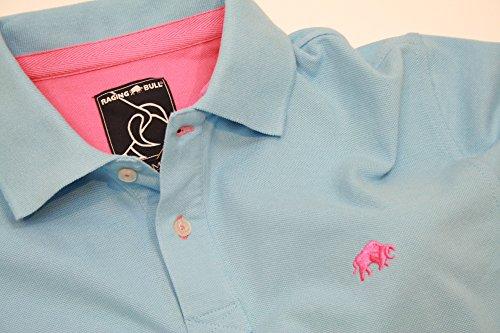 Raging Bull New Signature Poloshirt, Herren M himmelblau