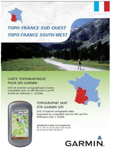 Garmin Topo Frankreich Süd-West - Freizeit- und Wanderkarte für GPS Geräte auf DVD und microSD (Süd-microsd)