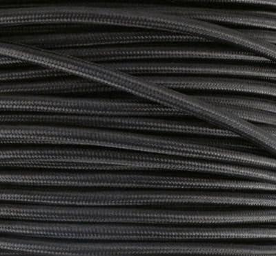 Textilkabel, Stoffkabel, Lampen Kabel Strom, 3-adrig, 3x0,75mm², GWH-Schwarz von GWH bei Lampenhans.de