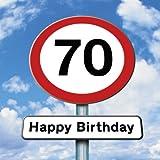 Twizler Geburtstagskarte mit Straßenschild-Motiv zum 70. Geburtstag