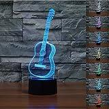 Musik Gitarre 3D Lampe Optische LED Täuschung Nachtlicht