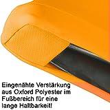 Gräfenstayn® Stretch Stehtischhusse Diana mit Öko-Tex Siegel, Verstärkung im Fußbereich, 40°C Maschinenwäsche in vielen Farben und Größen Ø60-65cm / Ø70-75cm / Ø80-85cm (Orange, Ø60-65cm) - 5