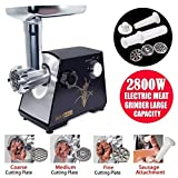 YUMUN 2800 Watt Electric Meat Grinder, Stainless Steel Meat Mincer & Sausage Stuffer