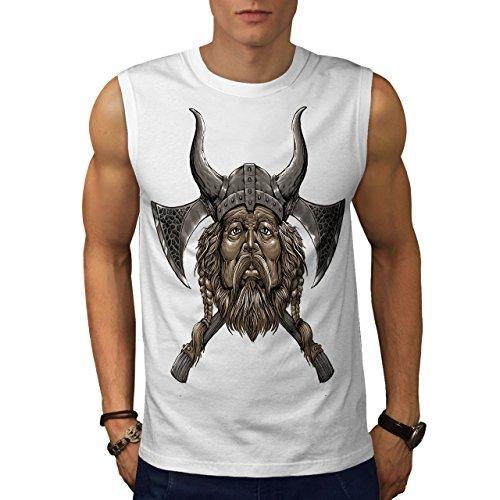 wellcoda Wikinger Helm AXT Männer 3XL Ärmelloses T-Shirt