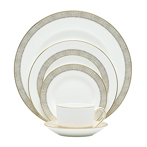 Wedgwood 5C10127730 Vera Wang Gilded Weave 5-Piece Place Setting -