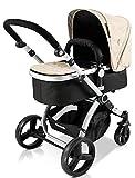Star Ibaby Go Baby UP - Cochecito de bebe con silla, capazo y burbuja de lluvia, color arena