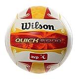 Wilson Ballon de Beach-volley, Extérieur, Utilisation Récréative, Taille Officielle, AVP QUICKSAND ALOHA, Rouge/Jaune/Blanc, WTH489097XB