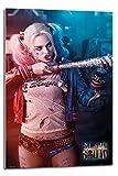 Suicide Squad Harley Quinn Baseballschläger Poster Float montiert–90x 60cm (ca. 91,4x 61cm)