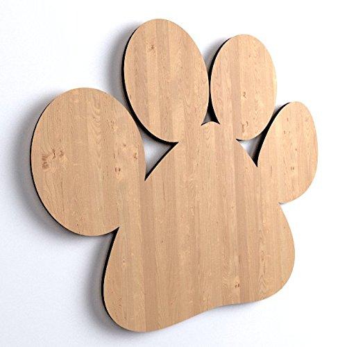 30x Hundepfote Tiere Form Holz Basteln Bemalen Dekoration Hund Dog