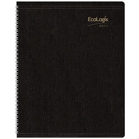 Brownline EcoLogix Recycled Weekly Planner 15 Minute Appts - Brownline CB425WBLK