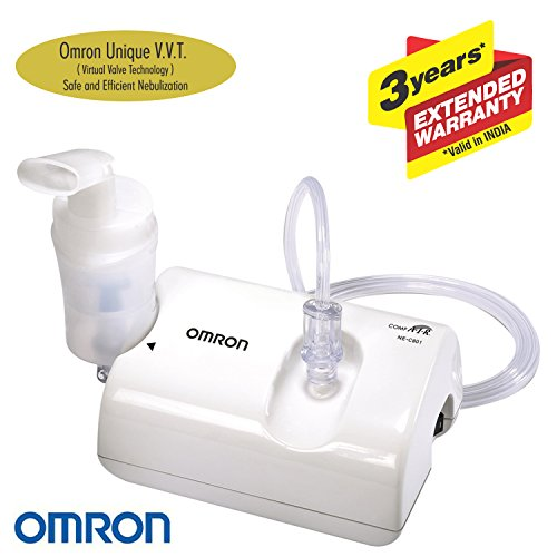 Omron NE C801 Compressor Nebulizer For Child and Adult With Virtual Valve Technology Ensuring Optimum Medicine Delivery to the Raspiratory System