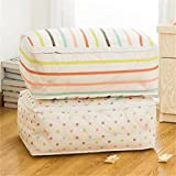 #2: HOKIPO® Foldable Closet Cloth Organizer Bag for Quilt, Blankets, Pack of 2