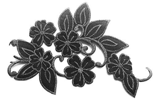 b2see Toppe toppa patch termoadesive fiore fiori termoadesivi termoadesiva applicazioni ricamate ricamato adesiva da cucire per stoffa jeans cucito fiori a 18 x 8 cm