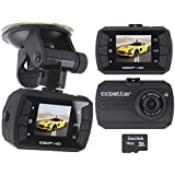 Car Dash Cam, Full HD 1080P Vehicle Car DVR with G-Sensor Car Dashboard Black