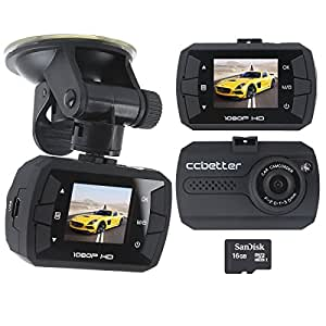 car dash cam full hd 1080p vehicle car dvr with amazon. Black Bedroom Furniture Sets. Home Design Ideas
