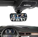 Szsmd Auto pour bébé Miroir/vue arrière miroir convexe/intérieur de voiture Miroir de maquillage avec ventouse 13cm objectif vue de 360degrés pour récompense à la route à l'enfant Assise et Safe Recul Compatible avec toutes les voitures