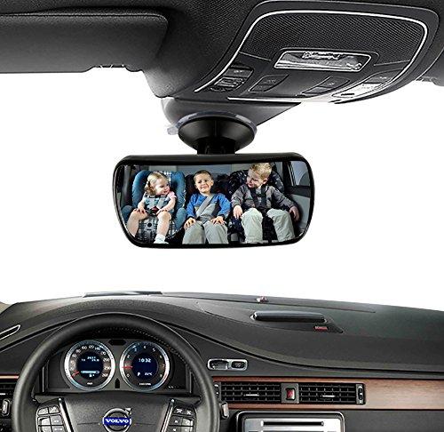 SZSMD Rücksitzspiegel fürs Baby, Babyspiegel Auto 360° schwenkbar, Verstellbarer Spiegel Auto Baby mit großem Sichtfeld