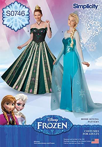 Elsa Coronation Kostüm - Simplicity Creative Mustern s0746Misses 'Frozen Kostüme, Größe: R514-16-18-20-22