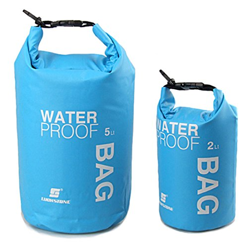 luckystone Farbige Driften wasserdichte Tasche für Boot und Kajak,, Angeln, Rafting, Schwimmen, Camping, Kanu fahren, blau, 10 l