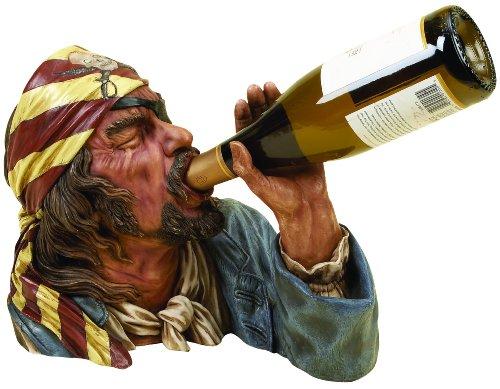 Deco 79 Anytime Bar Eck-Decor Polystone-Weinhalter Pirat