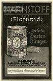 1925 - Inserat / Anzeige: BASF HARNSTOFF / DER BESTE GARTENDÜNGER - Grösse : ca. 80 x 120 Millimeter - alte Werbung / Originalwerbung/ Printwerbung / Anzeigenwerbung / Advertisement