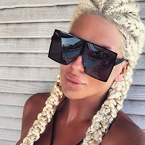 KJWELUQ Big Frame Gradient Shades Übergroße Sonnenbrille Square Women Sun Glasses