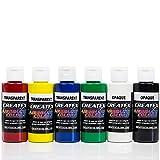 Airbrush Farben 6x 60 ml Createx Transparent Basis Grundfarben Set Airbrushfarben