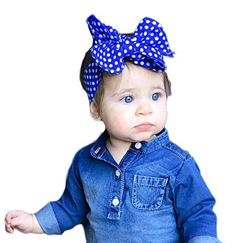 OSYARD Baby Mädchen Stirnband Kopfband Headband, Kleinkind Welle Spot Stirnband Gummibänder Neugeborene Elastisches Kopfband Niedlich Schleife Stirnbänder Haarband HeadwrapBögen Headband