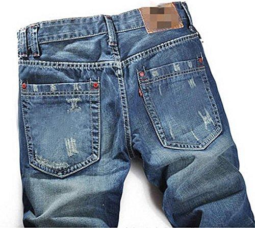 Zeagoo Herren Hose Männer Hose Sommer Jeans Men Klassiker Denim Hosen Jeans Stoffhosen Dunkelblau