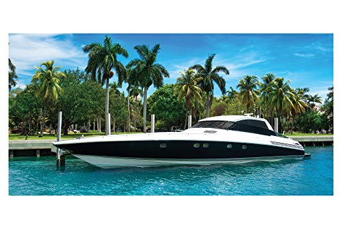 LimeWorks Bath Towel, 70x140 cm, Yacht at Miami Florida for sale  Delivered anywhere in UK