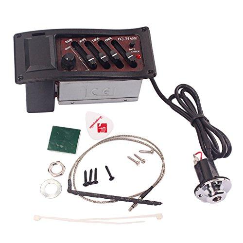 monkeyjack Gitarre Tonabnehmer 4Band Equalizer Verstärker für akustische Gitarre EQ 7545R Teile braun