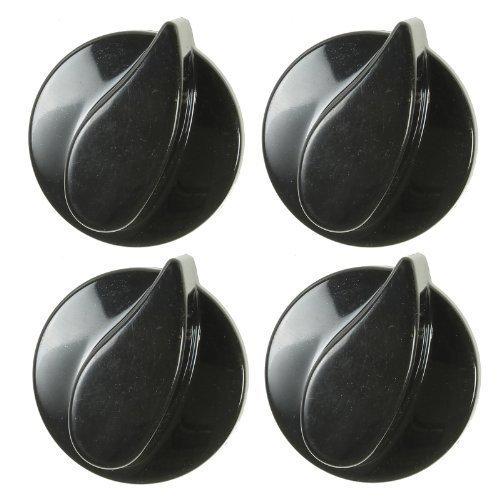 Gasregler-Drehknöpfe für Beko Backöfen / Herde - Schwarz - Packung mit 1, 2, 4 oder 6 Stück - Packungsinhalt: 4