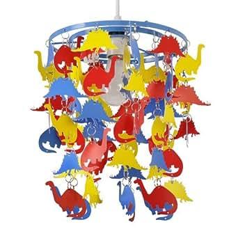 Abat Jour, suspension pour enfants ou bébés. Dinosaures multicolores en cascade