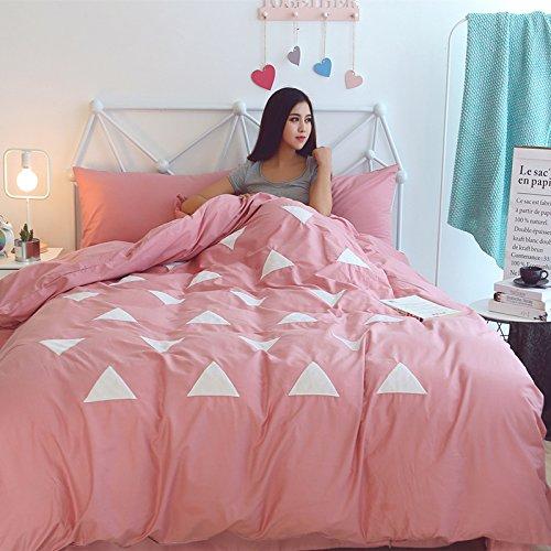 ZHUDJ Vier Stück Baumwolle Bettwäsche Bettbezug 1,8