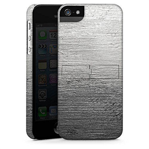 Apple iPhone 5 Housse Étui Silicone Coque Protection Béton Mur Look motif CasStandup blanc