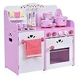 COSTWAY Kinderküche Spielküche Holz Kinderspielküche Spielzeugküche Spielzeug Holzküche
