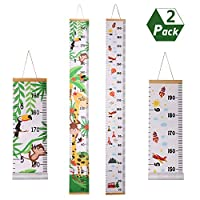 redcherry 2 Pieces Height Chart Children Height Chart Wooden Wall Ruler Height Measurement for Kids Bedroom Nursery Wall Decorations