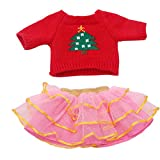 Xshuai ® Chirstmas Cute Sweaters Clothes Outfits Skirt 18 inch American Girl Doll (Pink)