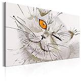 murando Bilder Katze 120x80 cm - Leinwandbild - 1 Teilig - Kunstdruck - Modern - Wandbilder XXL - Wanddekoration - Design - Wand Bild - Wie Gemalt Aquarelle Tier g-B-0035-b-a