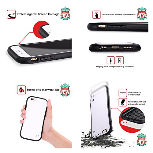 Personalizzata Personale Liverpool Football Club Liver Bird Maglietta Home 2017/18 Case Ibrida per Apple iPhone 6 Plus / 6s Plus Liver Bird Maglietta Away