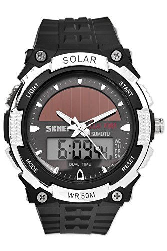 DSstyles Reloj hombre Reloj energía solar Reloj militar