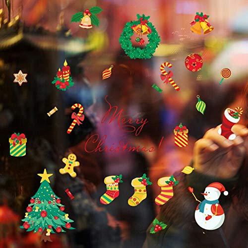 ers Christmas Stocking Tree Snowman 3D Diy Home Decor Children Room Home Decor Wall Decals ()