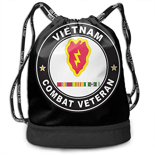 Rucksäcke,Sporttaschen,Turnbeutel,Daypacks, US Army 25th Infantry Division Vietnam Service Combat Veteran Bundle Backpack Fashion Cosmetic Bag (25th Infantry Division Vietnam)