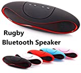 SKB Portable Mini Rugby Style Bluetooth Wireless Speakers with Mp3 Player for All Smartphones (Multi-Color)