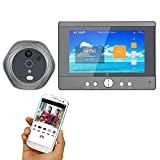 HUALI 720P WiFi Wireless Digital Peephole Door Viewer 5