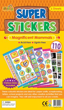 ere Kinder Aufkleber, 110Aufkleber Variety Pack für das Handwerk, Schulprojekte und vieles mehr. ()