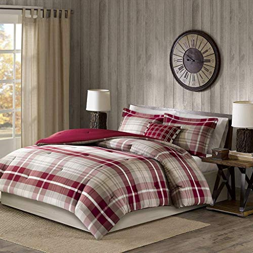 Sheridan Oversized Cotton Comforter Set Tan/Red Cal King